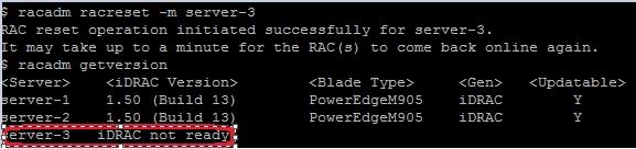 Resetting iDRACs (Dell M1000e) | Techbrainblog