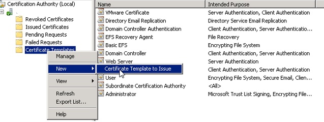 Creating a new template for vsphere 60 to use for machine ssl and once done you can see the new template in the certificate web console yelopaper Choice Image