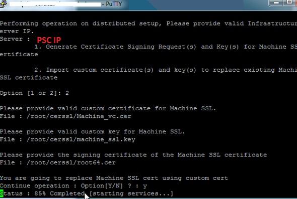 Replacing vCenter 6.0 SSL Certificate. | Techbrainblog